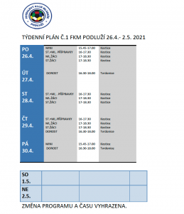 Týdenní plán č.1