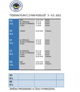 Týdenní plán č. 2
